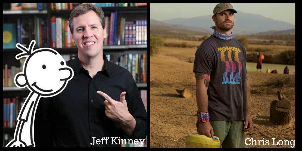 Jeff Kinney and Chris Long