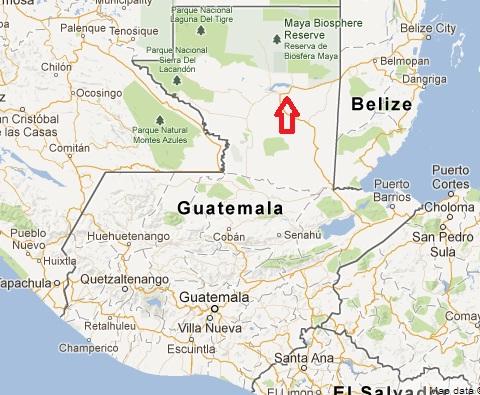 TIKAL Guatemala map