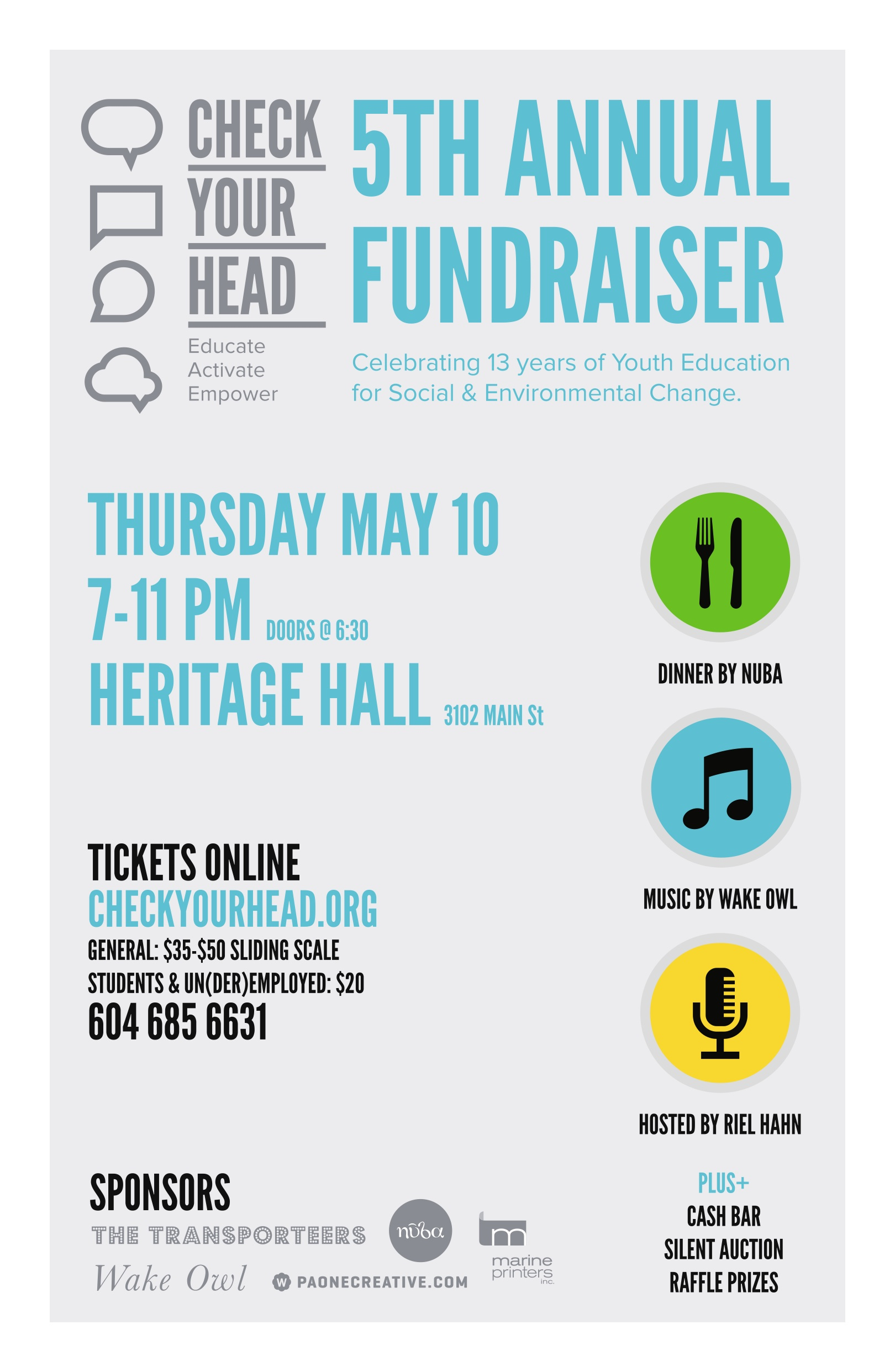 Check Your Head 5th Annual Fundraiser Poster