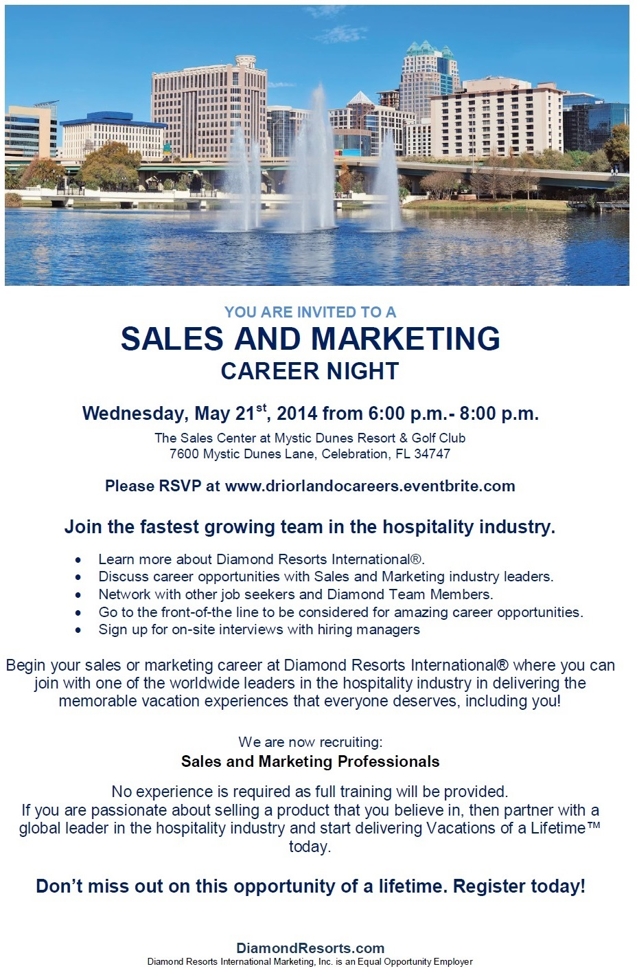 Orlando Career Night May 21, 2014