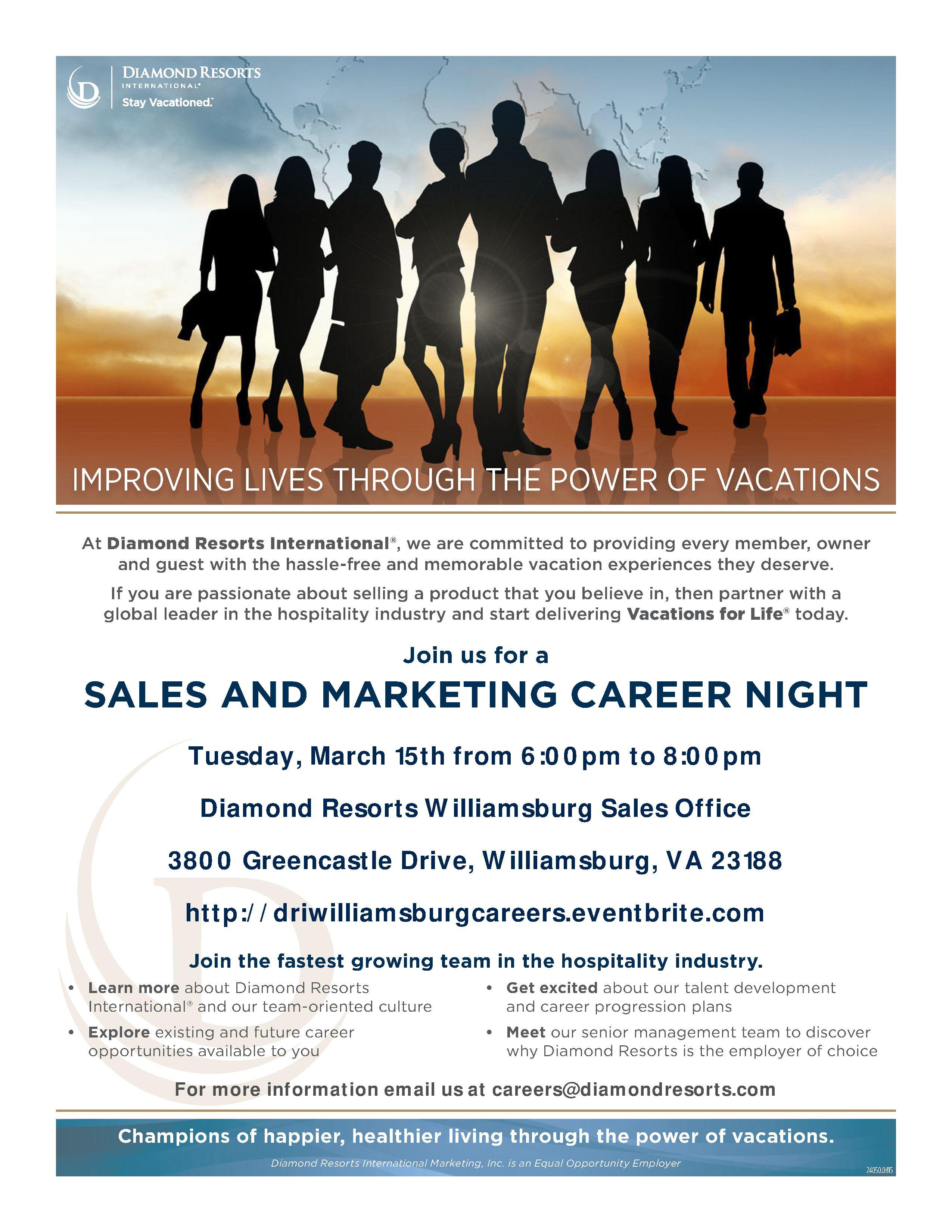Williamsburg Sales and Marketing Career Night