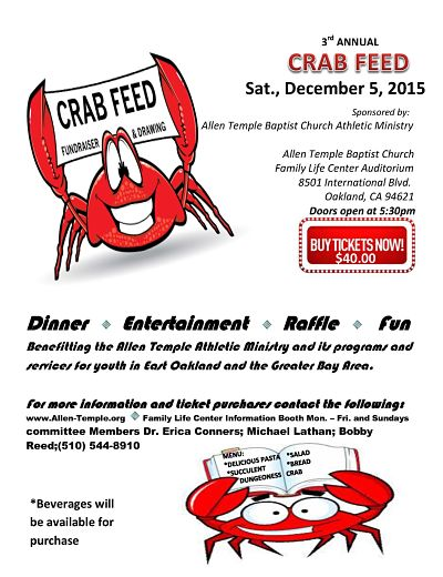 2015 ATBC Athletic Ministry Crab Feed