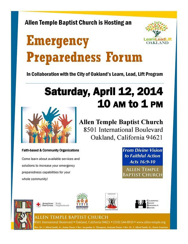 Emergency Preparedness Forum Apr 14