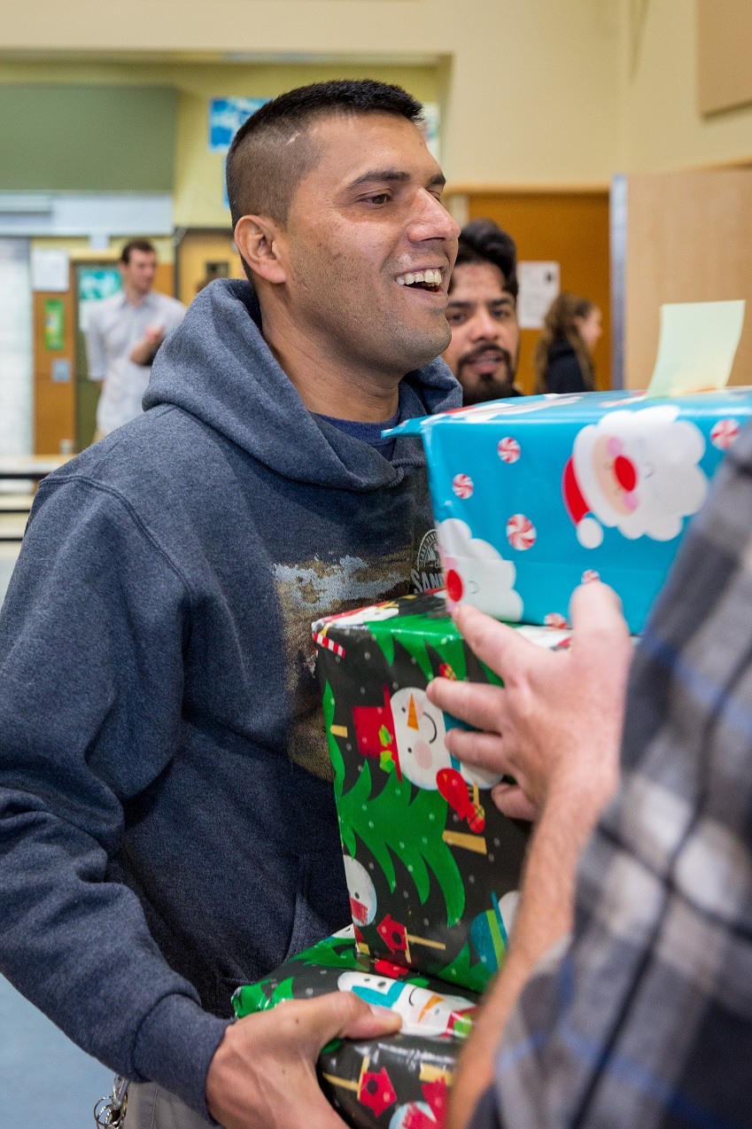 Refugee Receiving Gifts!