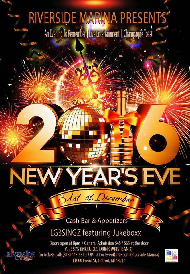 Riverside Marina Year's Eve Flyer