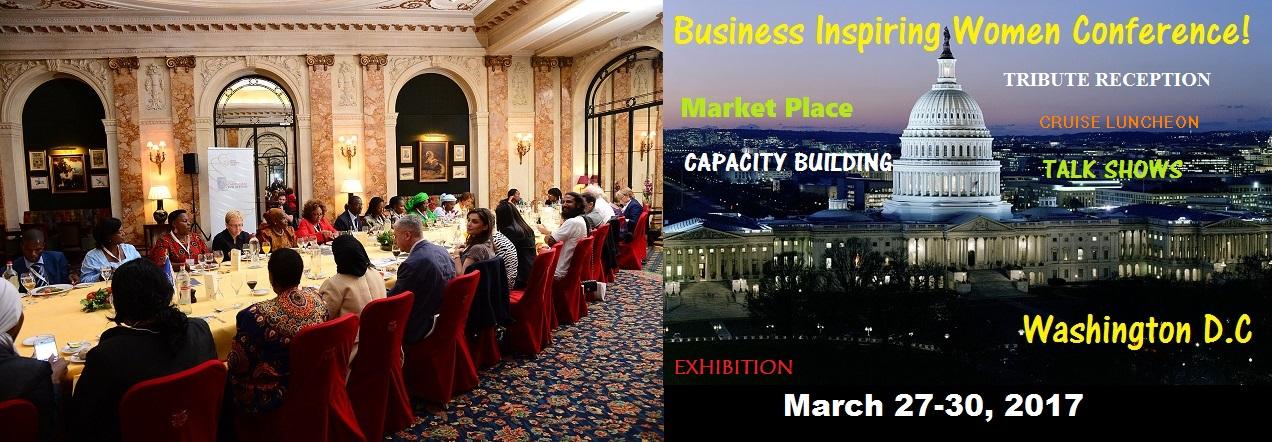 Business inspiring women conference flyer