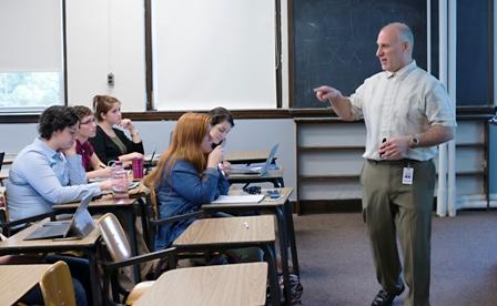 Bro. Ricci teaching a class