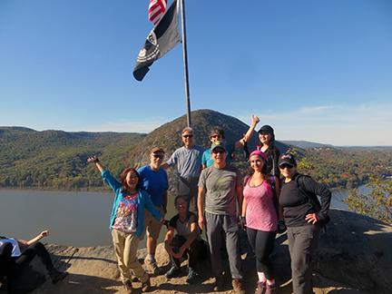 1st summit on Breakneck rock scramble