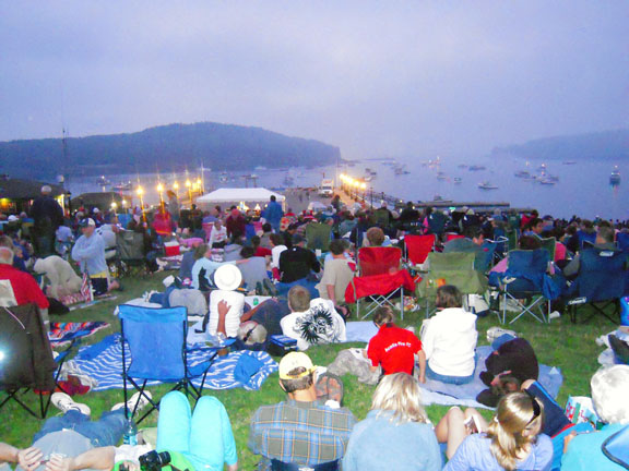 Fireworks concert on the harbor