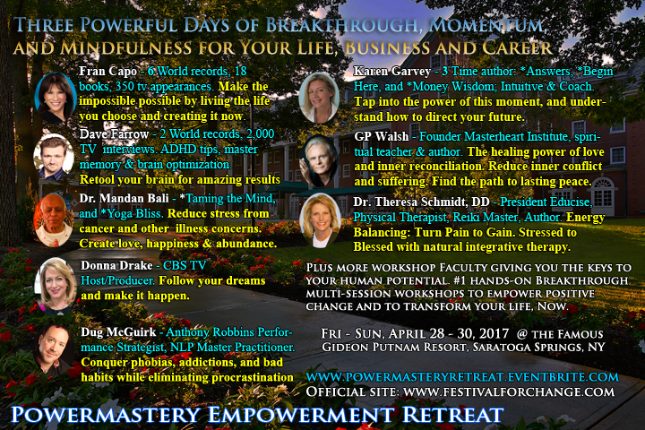 Powermastery Empowerment Retreat for creating positive change in your life