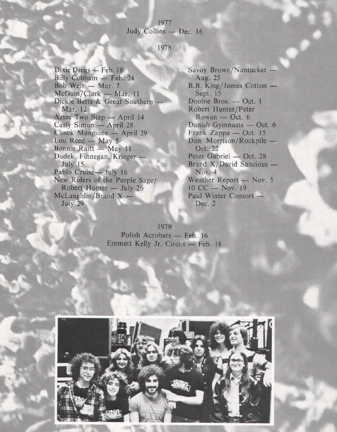 1978 Concerts