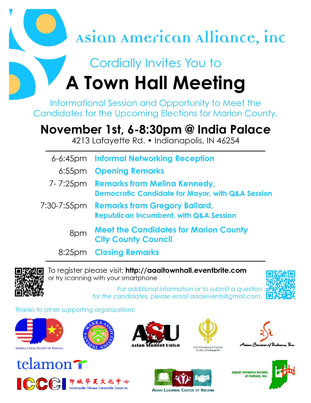 Asian American Alliance, Inc. Town Hall Meeting: Meet the Candidates Tickets, Tue, Nov 1, 2011 ...