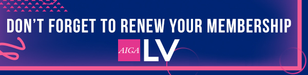 Don't Forget to Renew Your AIGA Membership