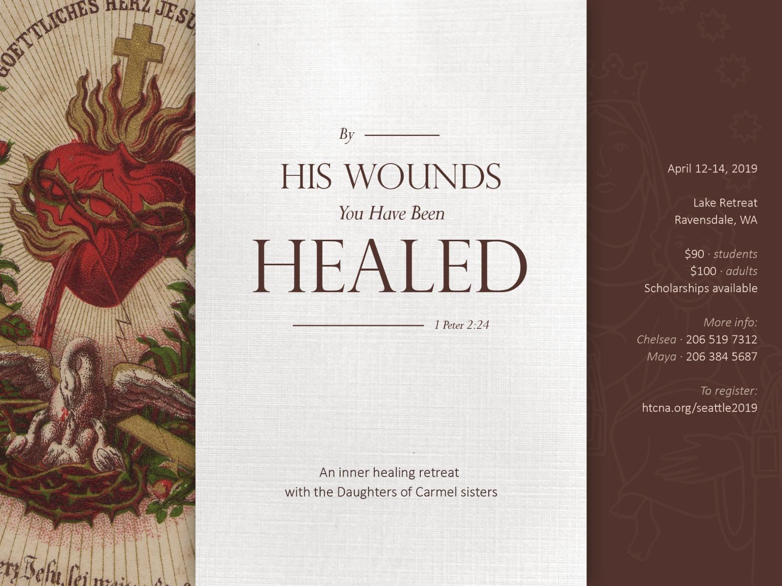 2019 Inner Healing Retreat Poster