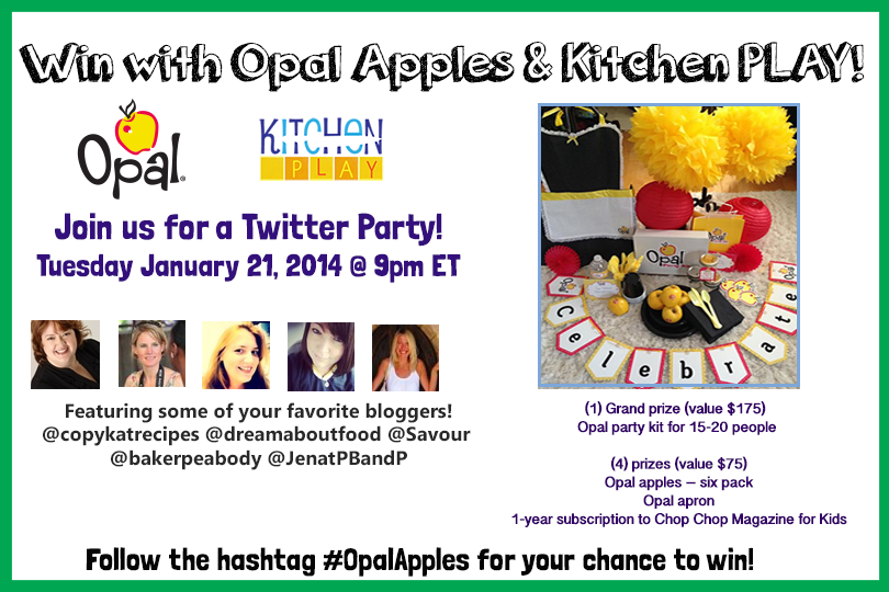 Opal Apples Twitter Party graphic