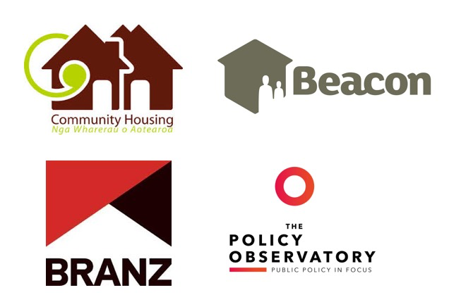 logos of supporters and partners BRANZ, Beacon, CHA and AUT