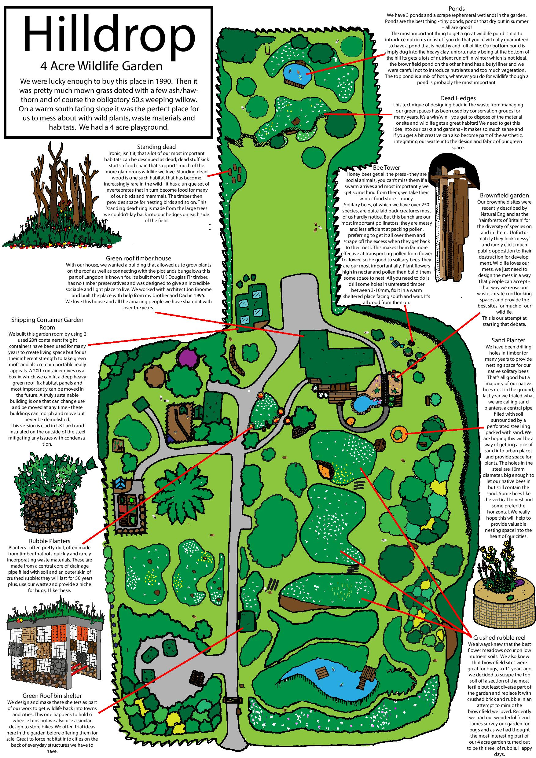 Hilldrop Gardens - 4 acres of wildlife and brownfield landscapes