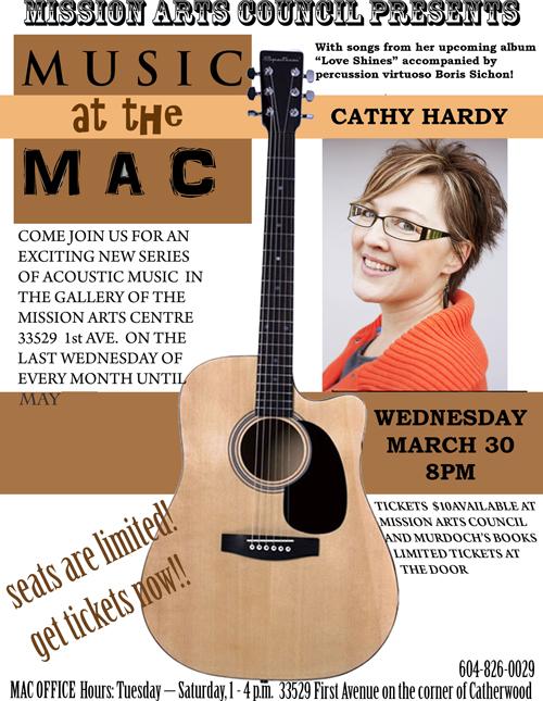 Music at the MAC Poster