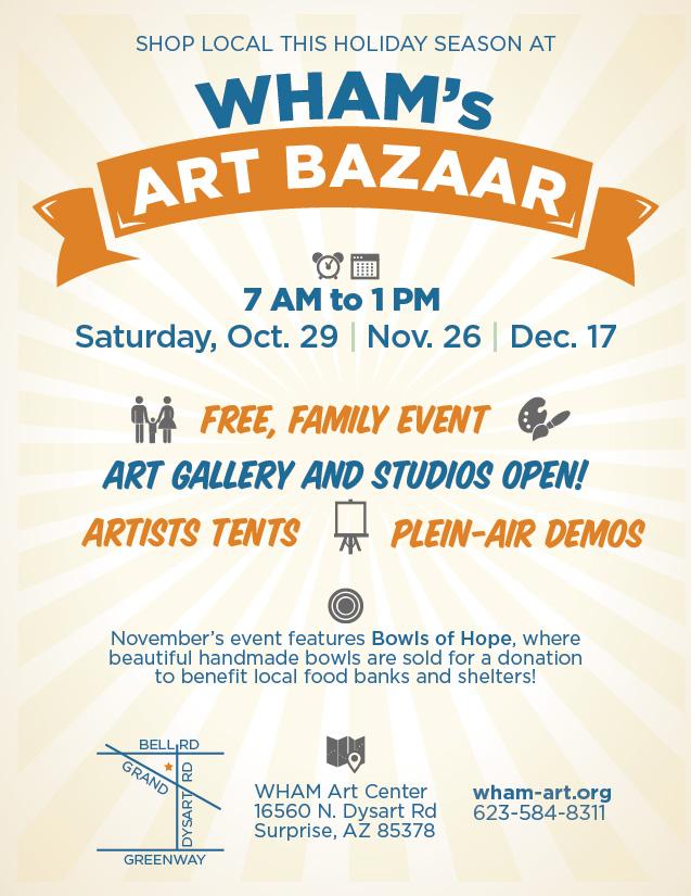 WHAM's Art Bazaar flyer