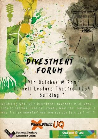 Divestment Forum Poster Image