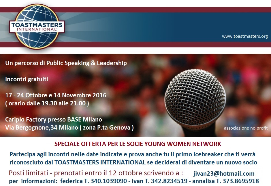 Young Women Network e Toastmasters Tortona