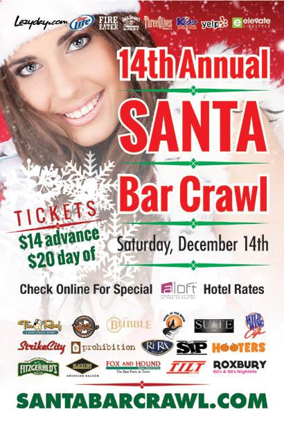 Santa Bar Crawl Charlotte 2013