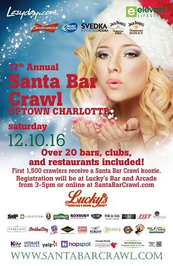 Santa Bar Crawl Charlotte
