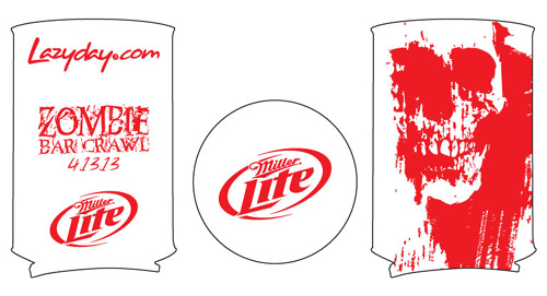 Zombie Bar Crawl Koozie
