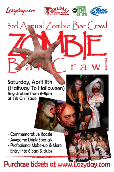 3rd Annual Zombie Bar Crawl Uptown Charlotte