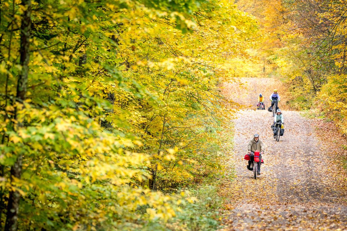 Ride the beautiful, car-free, rolling gravel roads of the Northwoods with us.