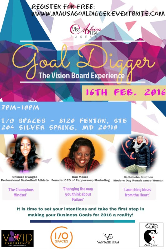 Goal Digger The Vision Board Experience Registration