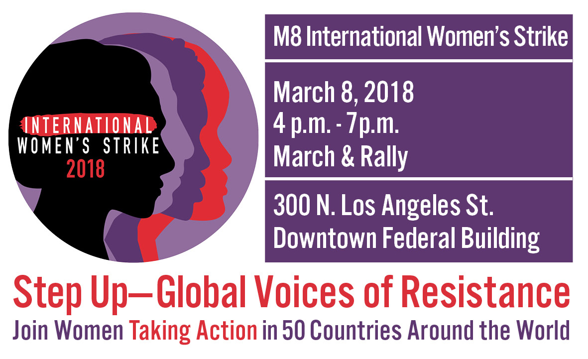 International Women's Strike Flyer March 8 Downtown Federal Building at 4pm