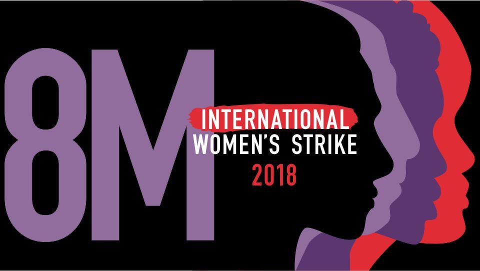Image of logo and flier for 2018 International Women's Strike