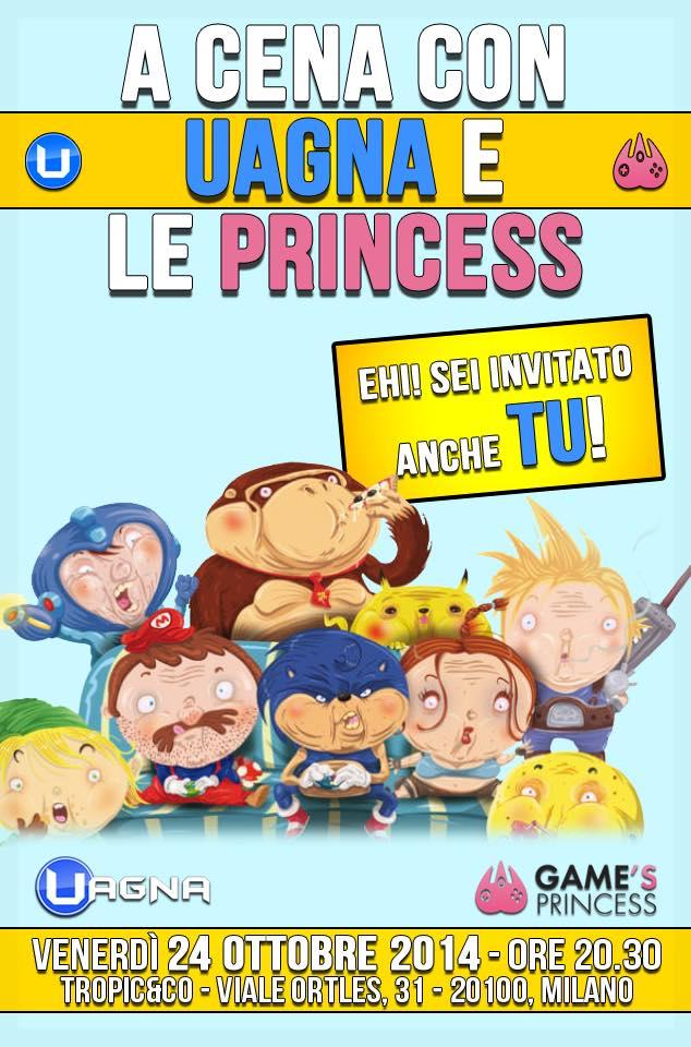 A cena con Uagna e le Princess