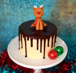 Festive Drip Cake