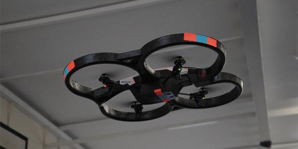 A Parrot AR Drone, Midflight