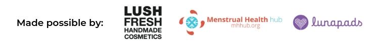 sponsors - Lunapads, LUSH Cosmetics, MH Hub