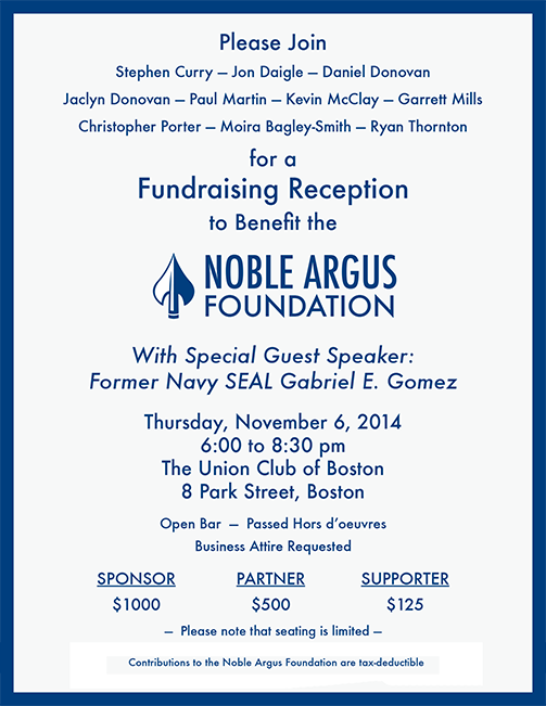 Noble Argus Foundation Reception on November 6, 2014