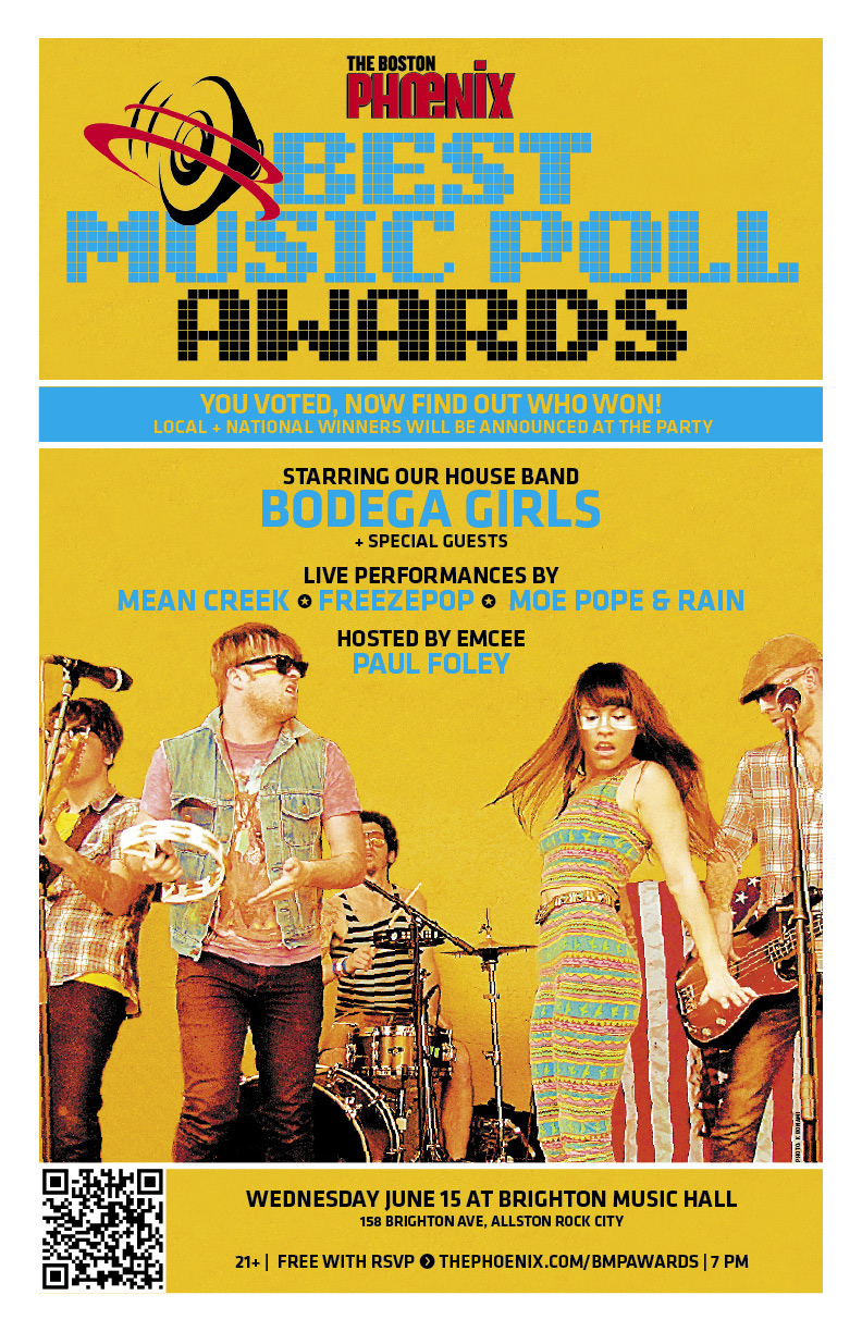 Best Music Poll Awards flyer
