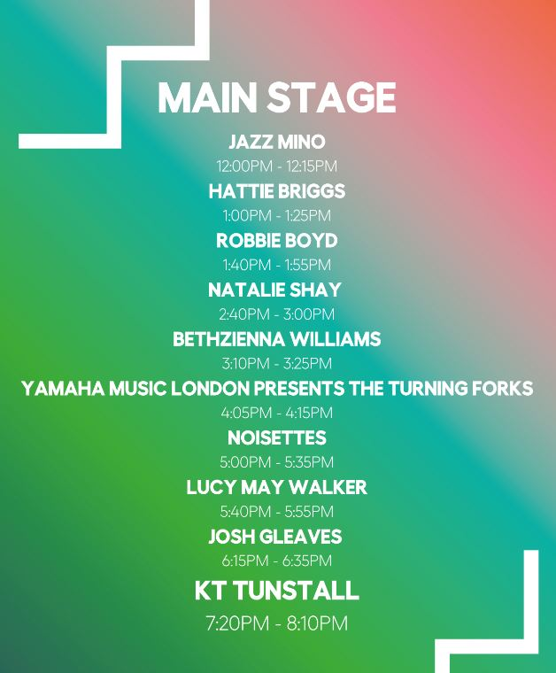 Main Stage Line Up International Busking Day