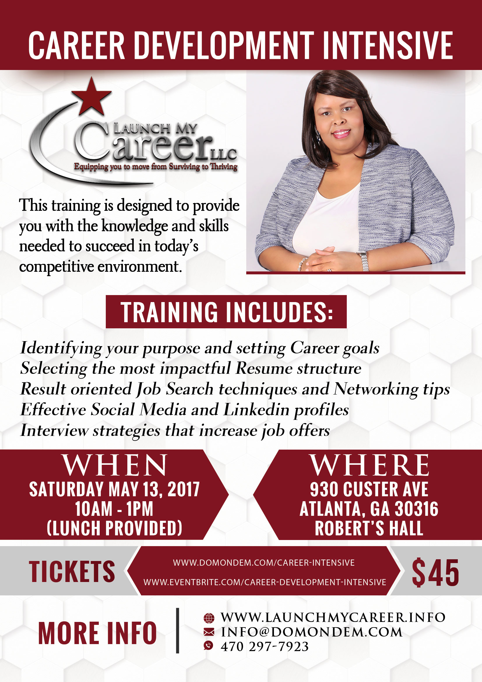 career development intensive tickets sat at  description