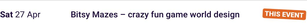 Sun 28 Apr Bitsy Mazes – crazy fun game world design