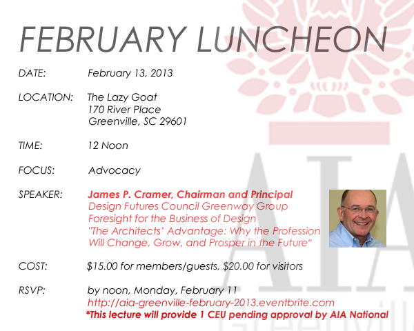 2013 February Lunch Invite
