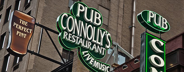 Image of Connolly's Pub signage