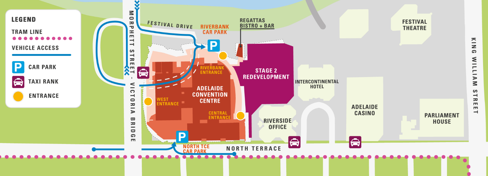 ACC Riverbank and Car Parking Map