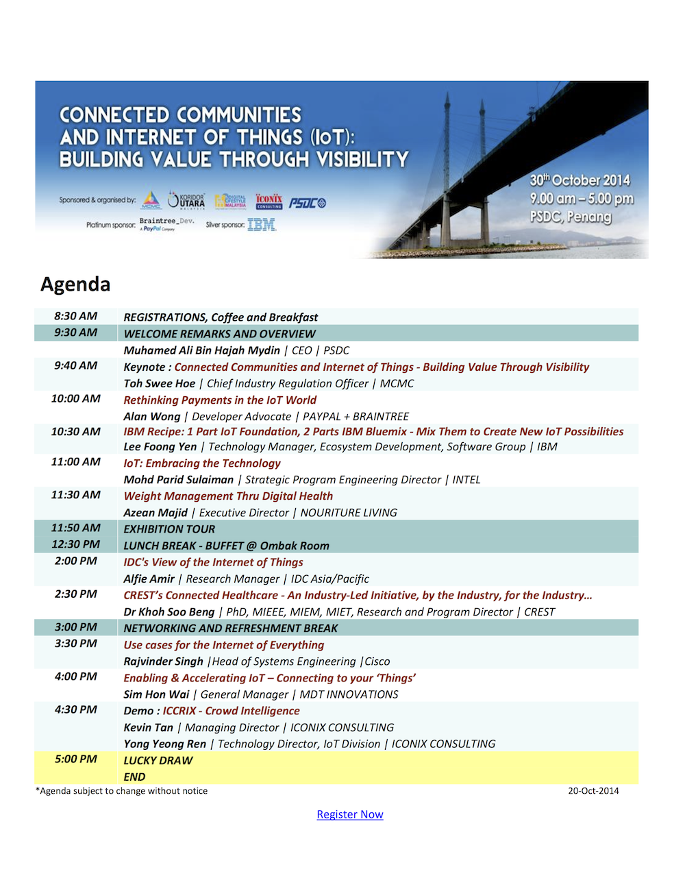 Connected Communities and Internet of Things Programme Details