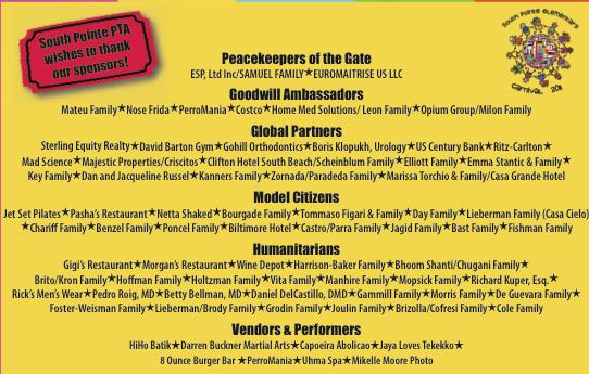 Carnival Sponsors 2011