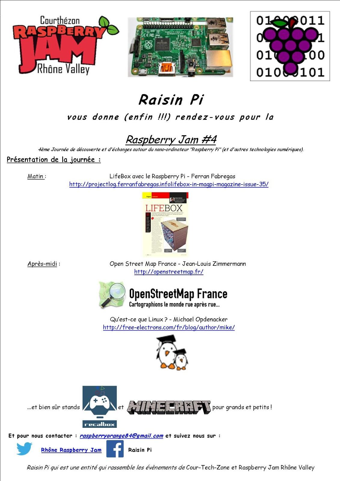 Programme Raspberry Jam Rhône 02/08