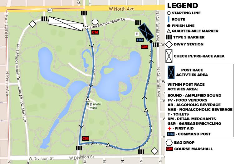 Site Map for Humboldt Mile