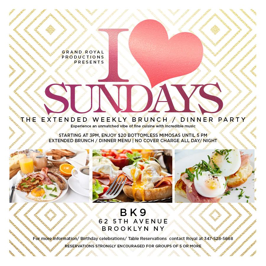 Brooklyn's Weekly Premier Brunch / Dinner